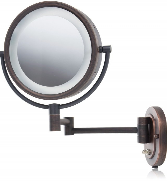 Wall Mounted Lighted Makeup Mirror 10x
