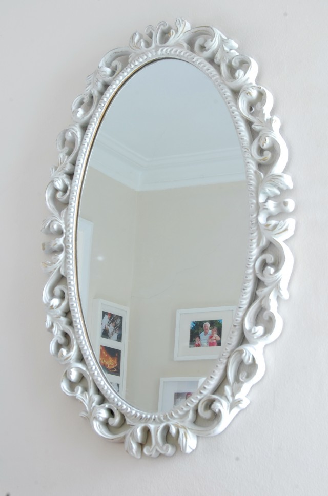 White Oval Mirror Target
