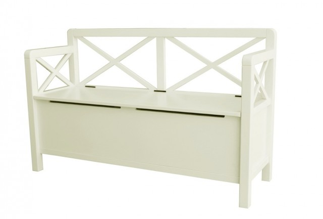 White Storage Chest Bench