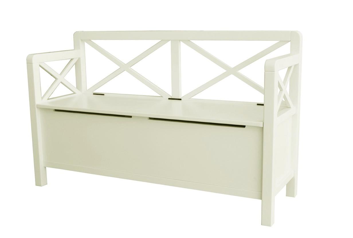 White Storage Chest Bench