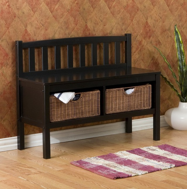 Wicker Hall Storage Bench