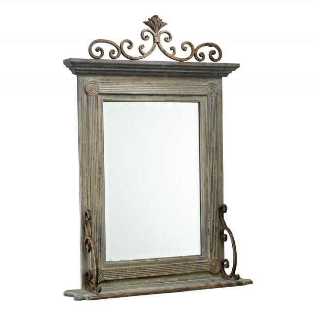 Wood And Wrought Iron Mirrors