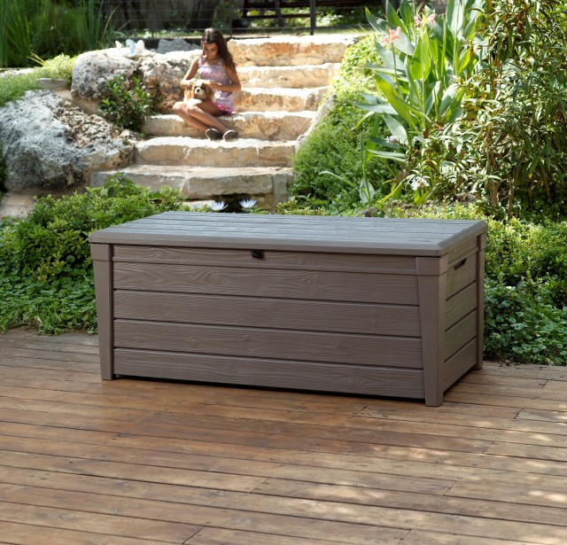 Wooden Garden Bench With Storage Box