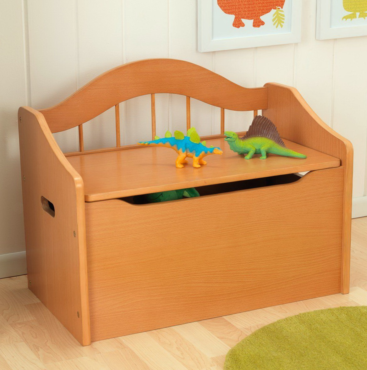 Wooden Toy Box Bench