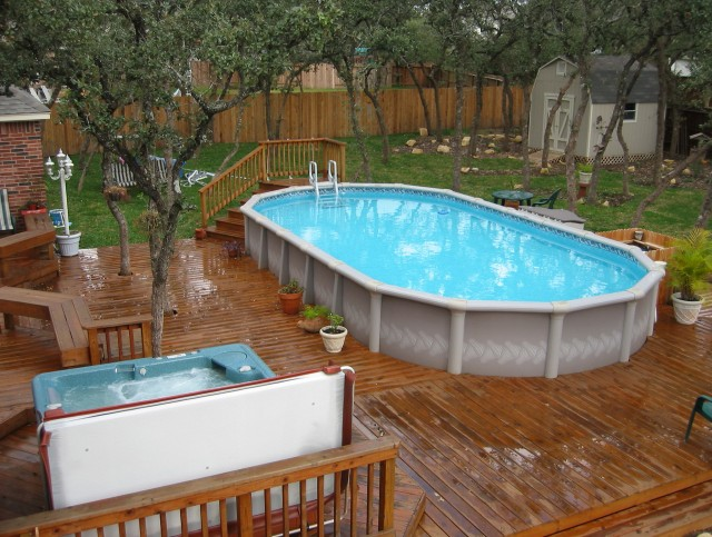 Above Ground Pool Decks For Small Yards