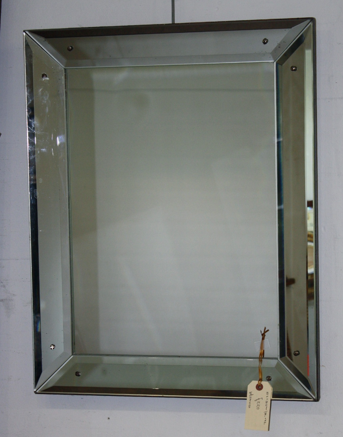 Antique Beveled Glass Mirror