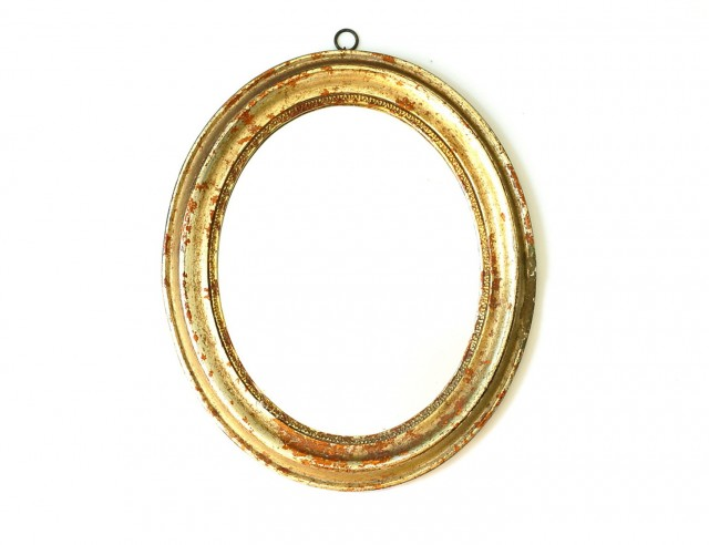 Antique Gold Oval Mirror