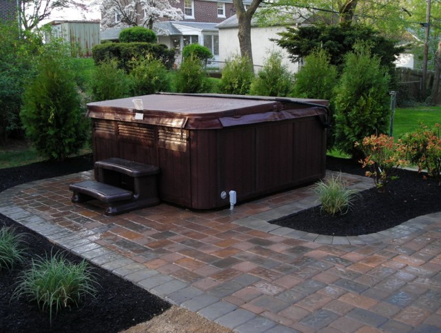 Backyard Deck Ideas With Hot Tub