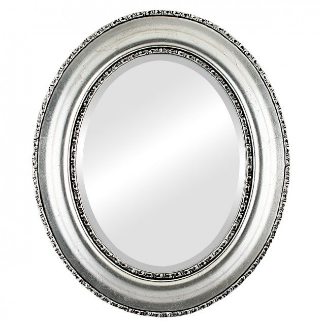 Black And Silver Framed Mirror