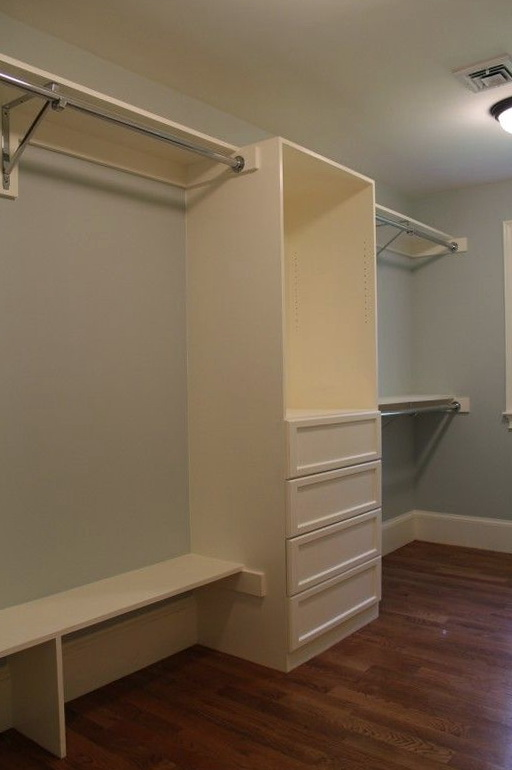 Built In Closet Drawers