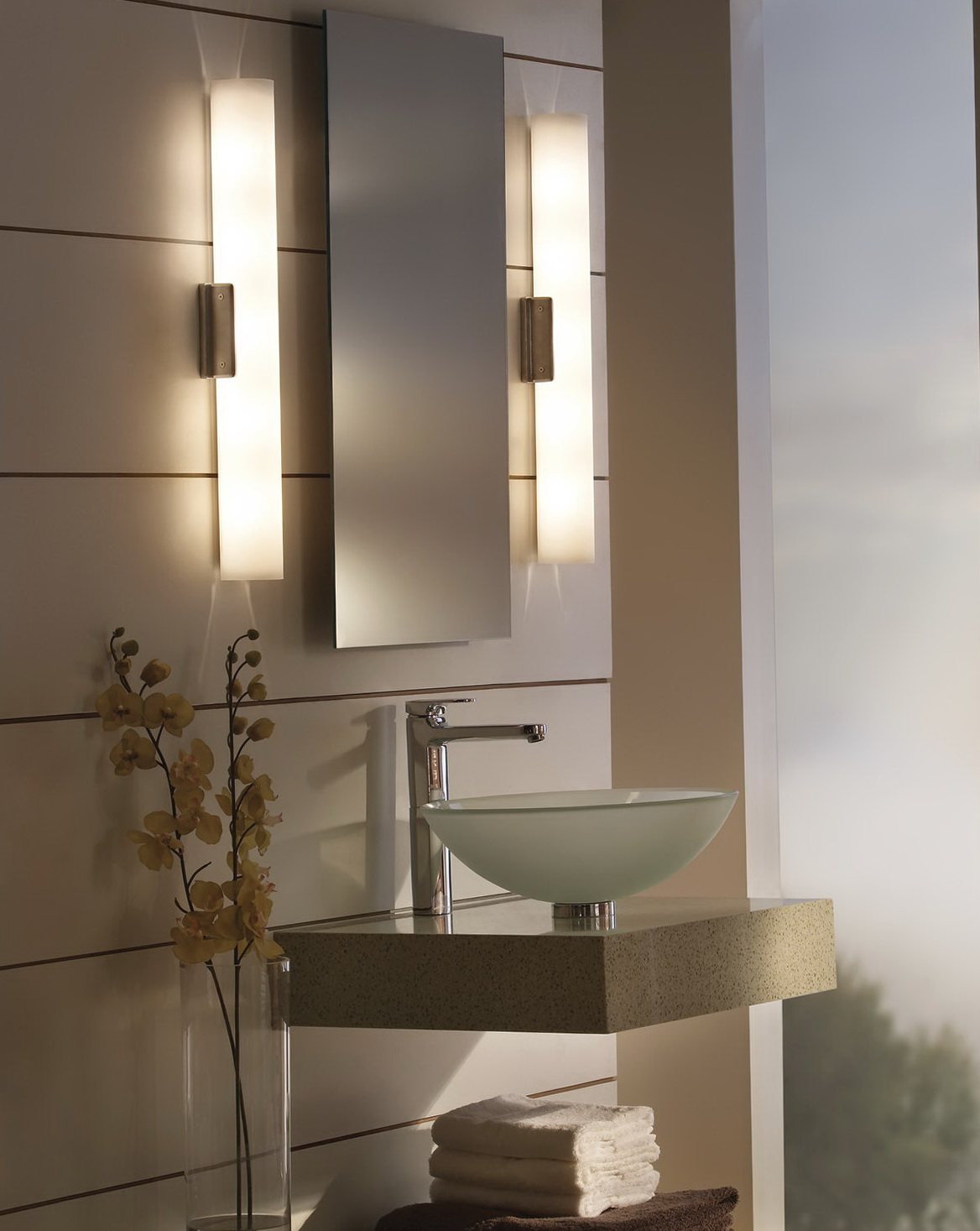 Contemporary Bathroom Mirrors With Lights