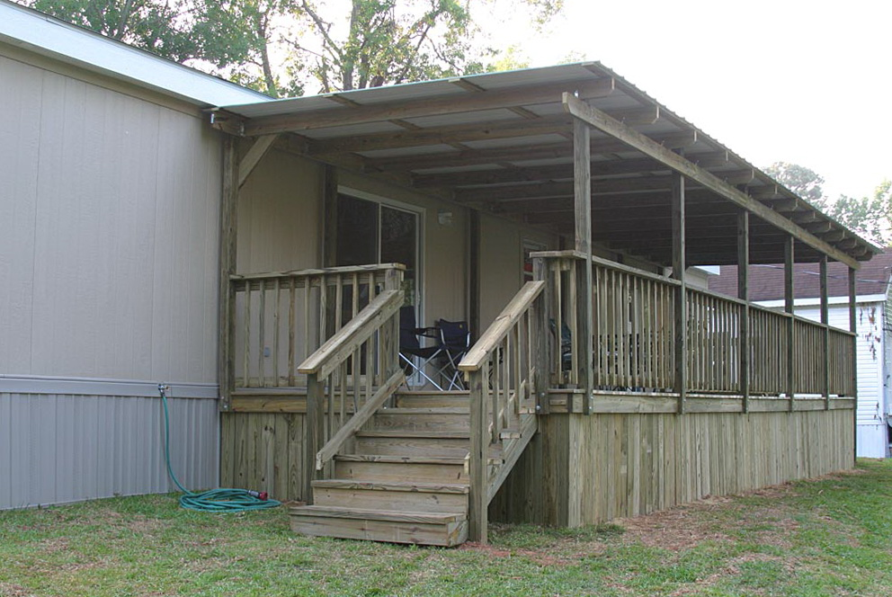 Covered Deck Plans For Mobile Homes