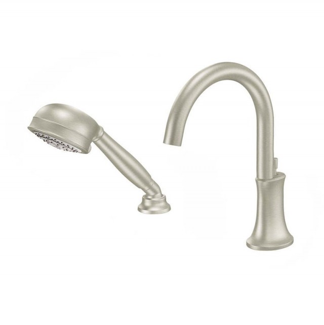Deck Mount Tub Faucet Brushed Nickel