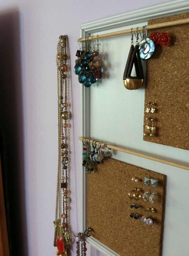 Diy Jewelry Organizer From Framed Mirror