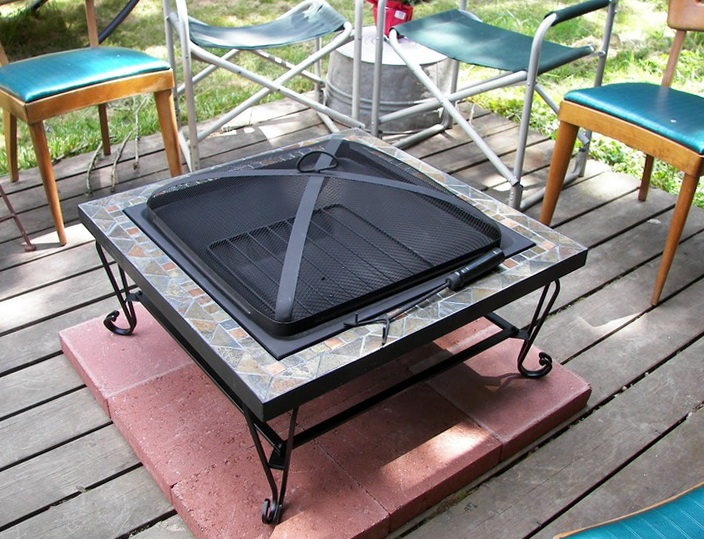 Fire Pit On Wood Deck Safety