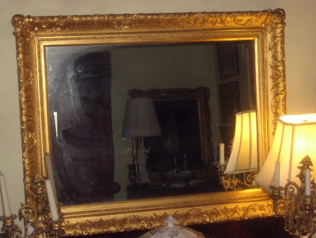 Gold Framed Mirror Large