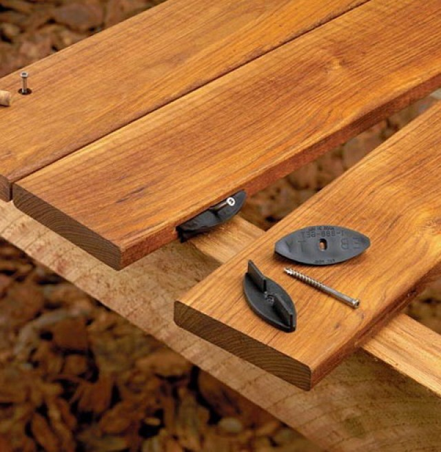 Hidden Deck Fasteners For Redwood