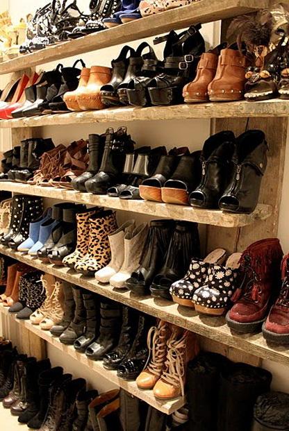 Homemade Closet Shoe Rack
