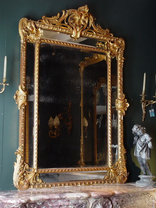 Large Antique Gold Mirror