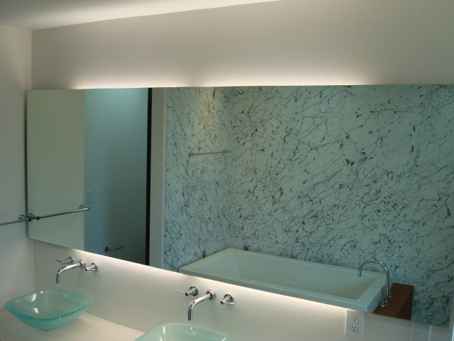 Large Contemporary Bathroom Mirrors