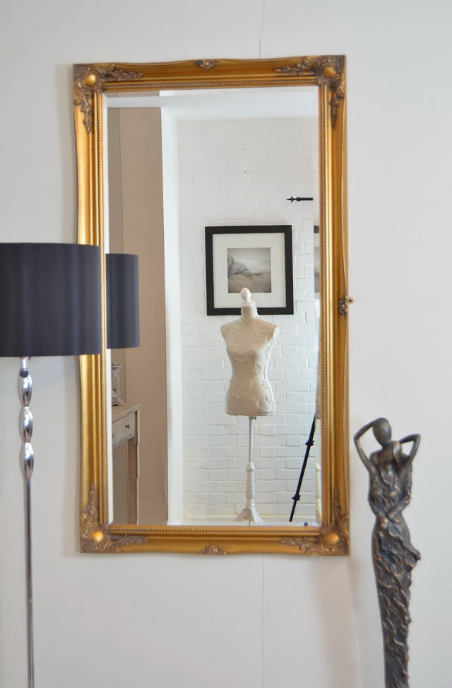 Large Gold Wall Mirror