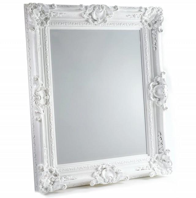 Large White Baroque Mirror