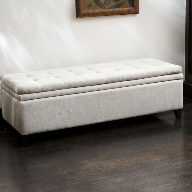 Long Ottoman Bench With Storage