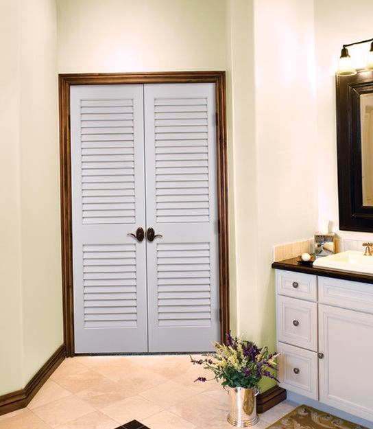 Louvered French Closet Doors