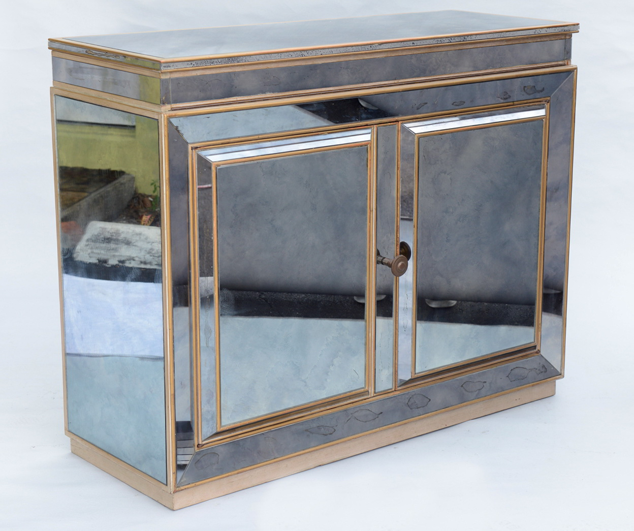 Mirrored Art Deco Bar Cabinet