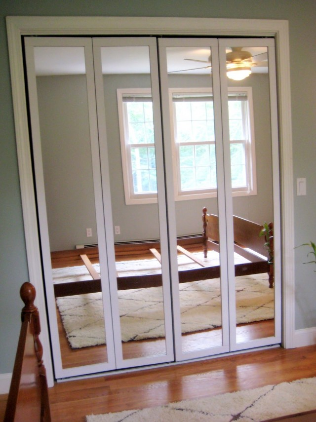 Mirrored Folding Closet Doors