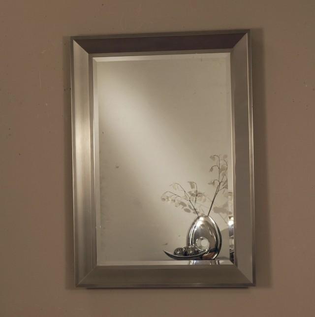 Modern Silver Framed Mirror