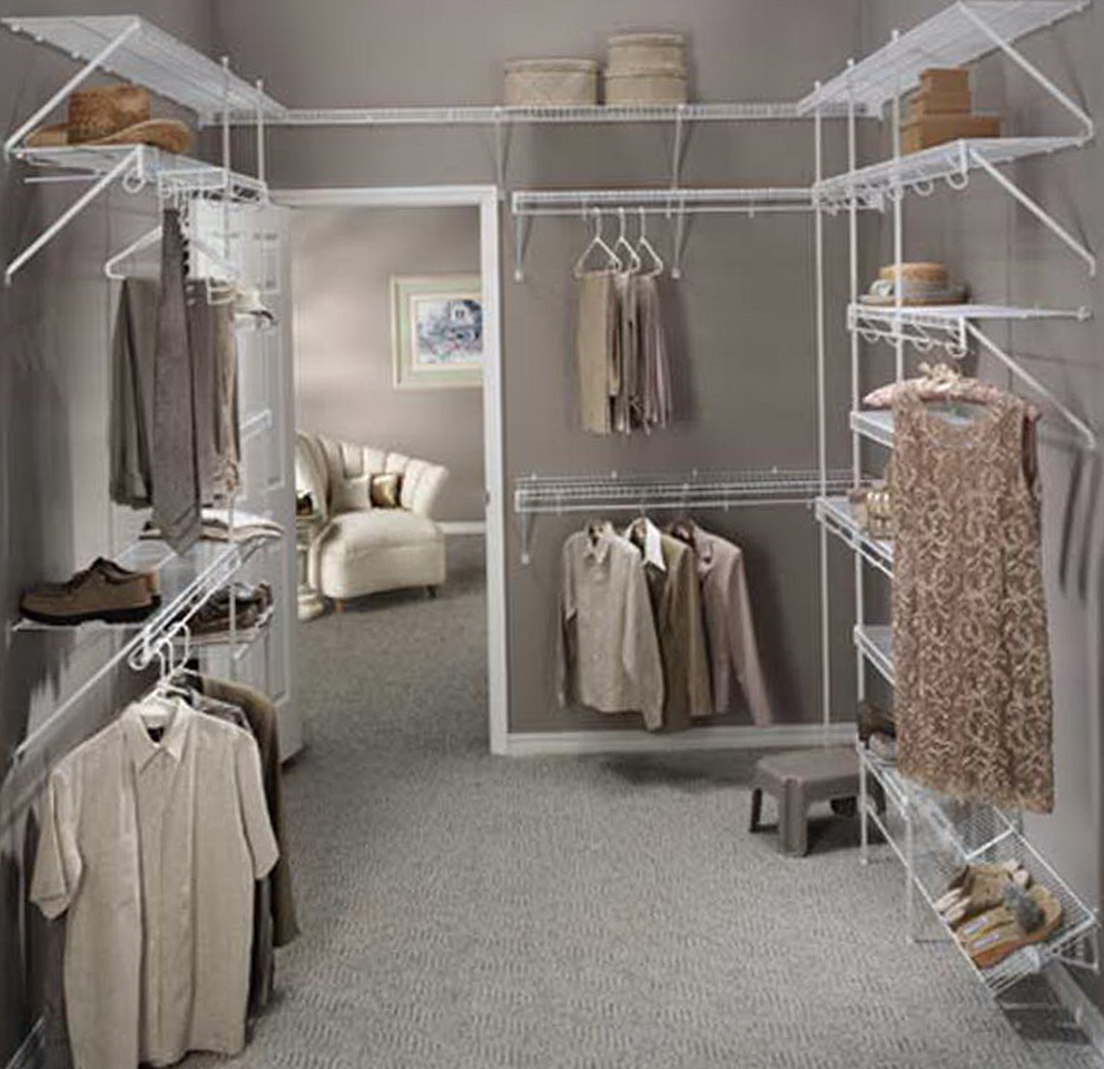 Narrow Walk In Closet Organizers