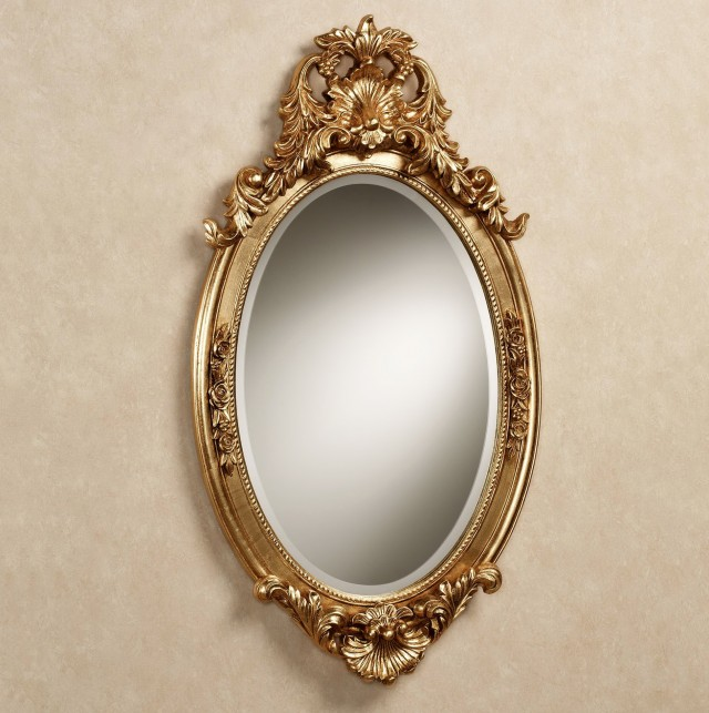 Oval Gold Framed Mirrors