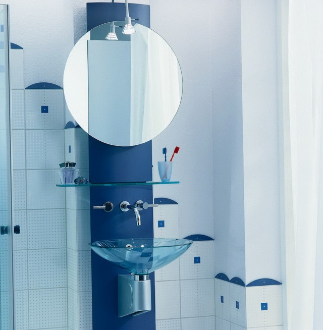 Round Bathroom Mirrors With Shelves