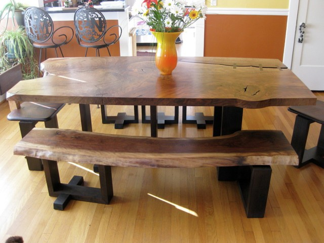 Rustic Dining Room Tables With Benches