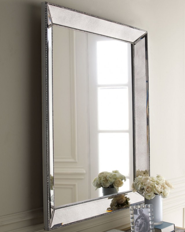 Silver Framed Mirror Bathroom