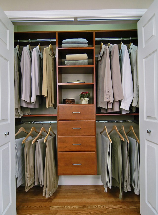Small Closet Ideas Men