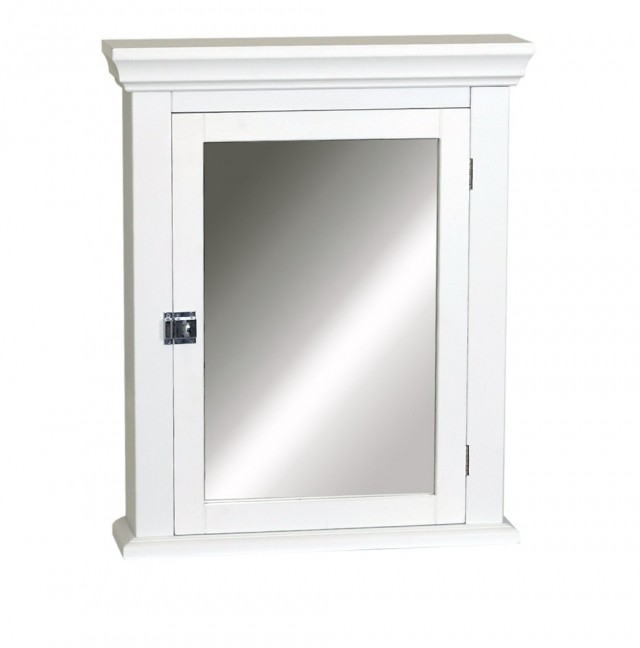 White Medicine Cabinet With Mirror
