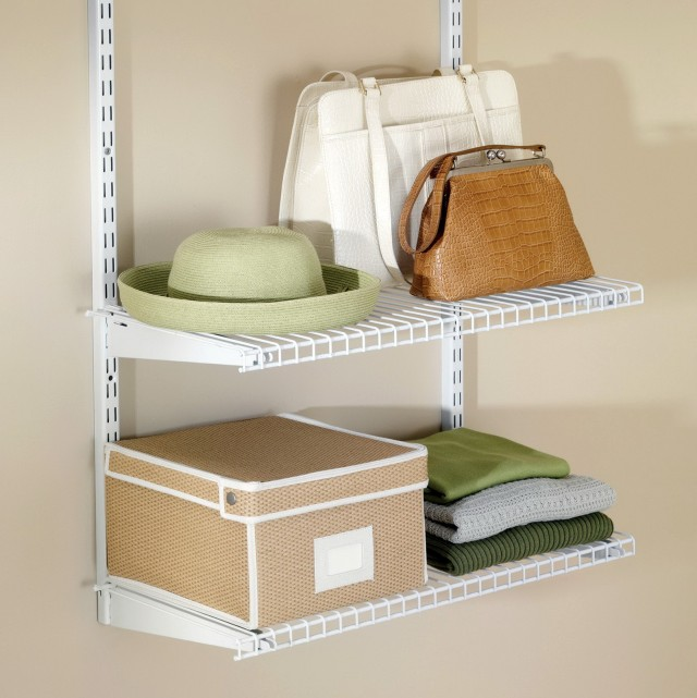 White Wire Closet Shelving
