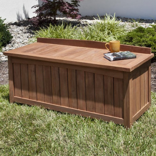 Wooden Garden Benches With Storage