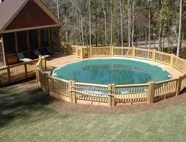 Above Ground Pools With Deck Ideas