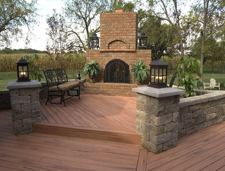Backyard Wooden Deck Designs