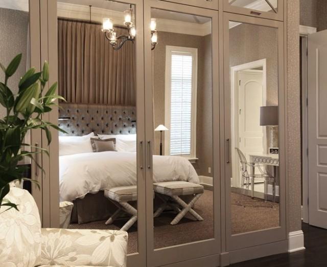 Bedroom Closet Doors With Mirrors
