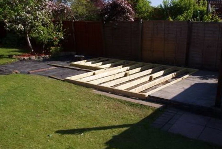 Building A Deck On The Ground Plans