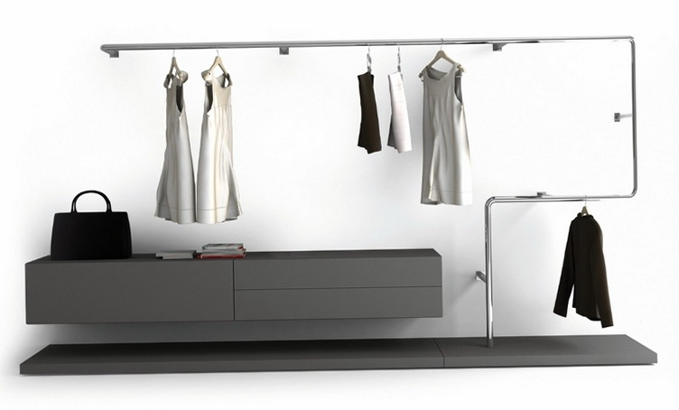 Curved Closet Hanging Rods