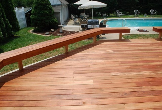 Deck Bench Railing Plans