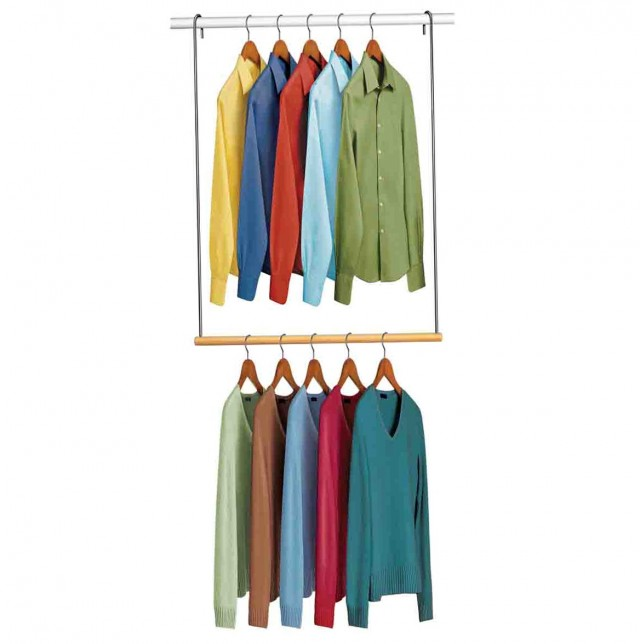 Double Hanging Closet Rod