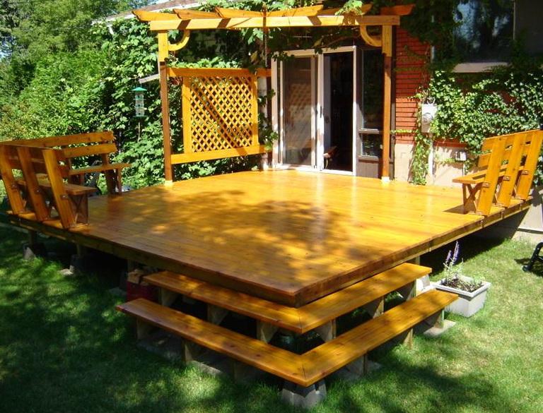 Free Standing Deck Framing Plans