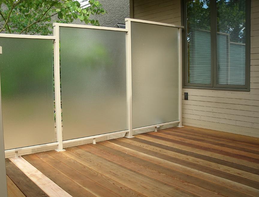 Glass Privacy Screens For Decks