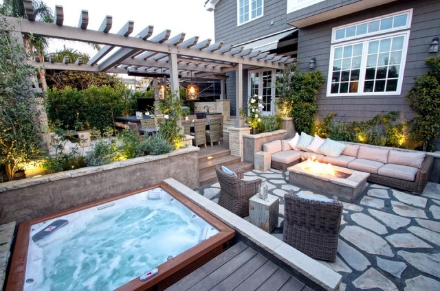 Hot Tub Deck Patio Ideas